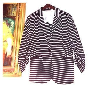 Olivia Moon Jackets & Blazers - Olivia Moon Black & White Blazer