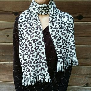 Fun and Funky Extra Long Leopard Print Scarf Wrap