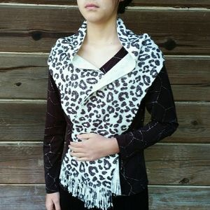 Accessories - Fun and Funky Extra Long Leopard Print Scarf Wrap