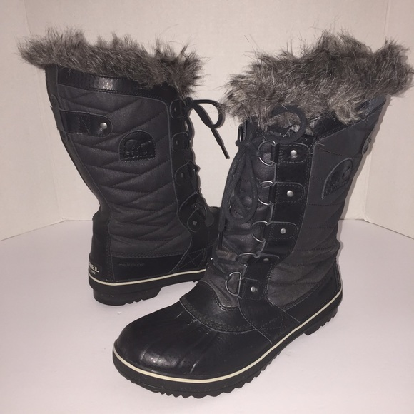 Sorel sorel black torino ii snow winter rain boots 9 5 for Banana republic torino