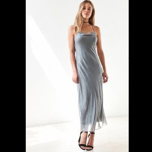 Urban Outfitters Dresses & Skirts - Silver Midi Slip Dress - Urban Outfitters