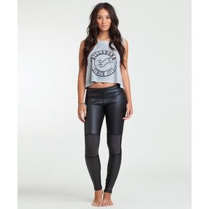 Billabong neoprene black leggings