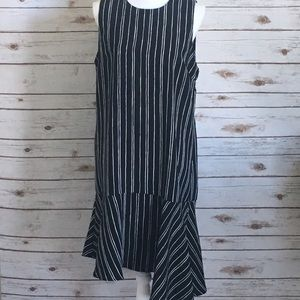 who what wear Dresses & Skirts - WHO WHAT WEAR Asymmetrical Striped Dress