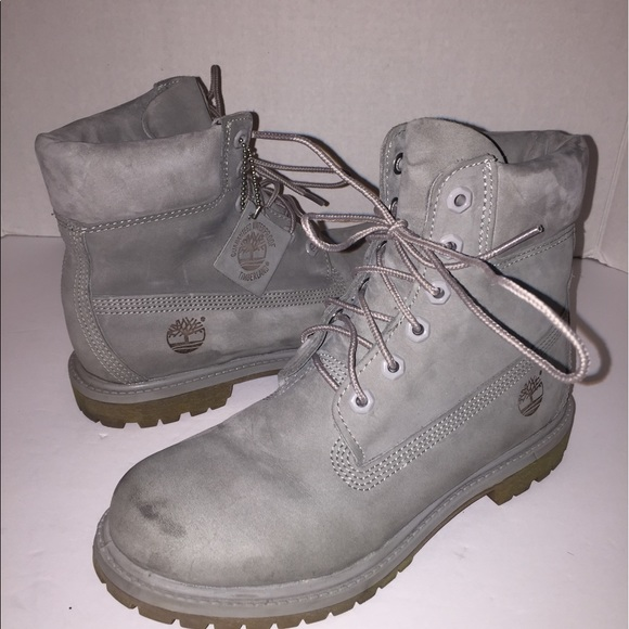 timberland timberland s grey suede combat boots sz
