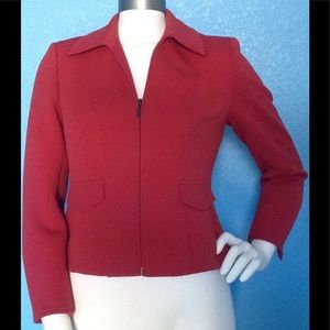 Talbots Petite Collared Quilted Zipper Career Coat