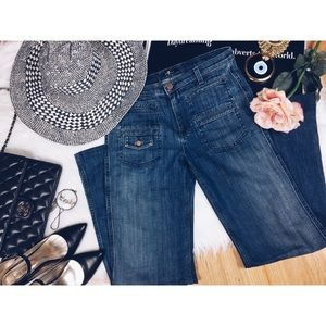 7 for all Mankind Flare Four Pocket front Jeans 27
