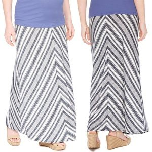 Motherhood Maternity Dresses & Skirts - Striped Maternity Maxi Skirt NWOT