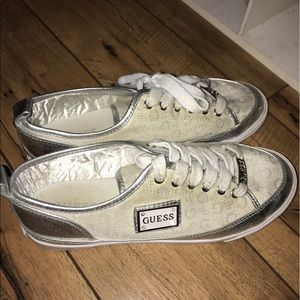 Guess Shoes - Guess Silver Shoes