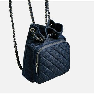 Zara mini denim backpack