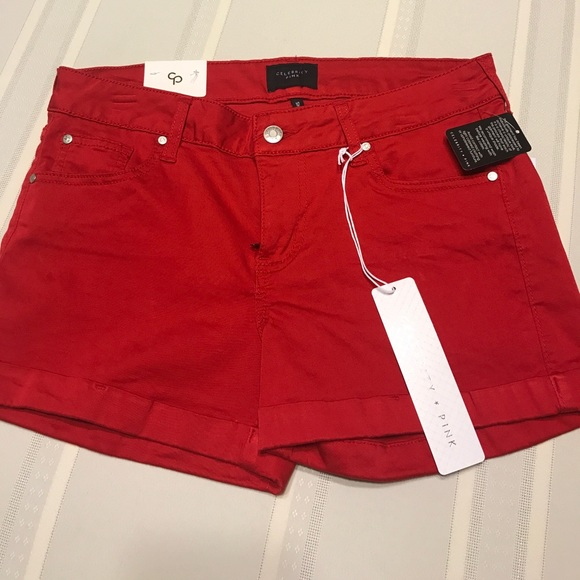 33ff6ebeff Celebrity Pink women's Red shorts