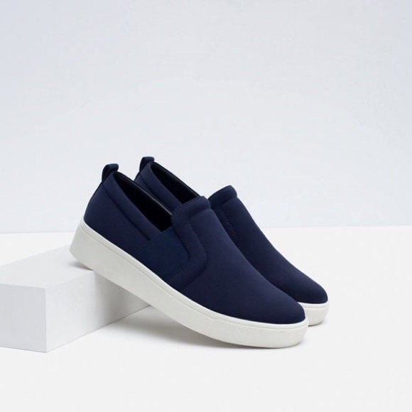 Zara Shoes | Zara Navy Blue Slip On
