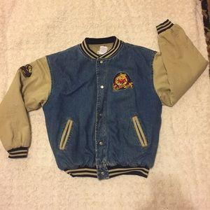 Vintage WINNIE The POOH Varsity Denim Jacket Med
