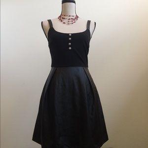 zinga Dresses & Skirts - NWOT Black Pleather Dress