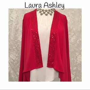 Laura Ashley Sweaters - Laura Ashley cardigan style cover up with sequins!