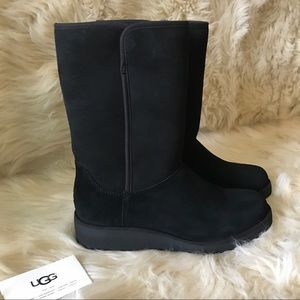 UGG Shoes - ⚡️UGG black amie wedge suede boots