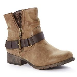 Pop by Jelly Pop Shoes - Brown Distressed Buckle Ankle Boot