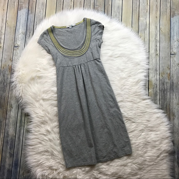 Boden Dresses - Boden Grey Yellow Necklace Dress Jersey Knit