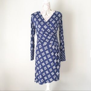 Hatley Dresses & Skirts - Hatley Navy Blue Faux Wrap Dress