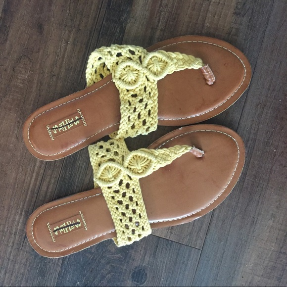 67 Off Mad Love Shoes Mad Love By Target Crochet Yellow