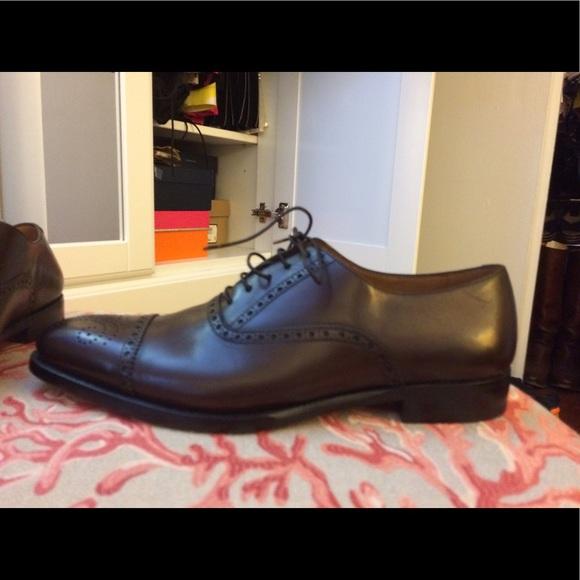 7344e3a374 Ralph Lauren Brown Leather Denver Wingtip 8 NWT
