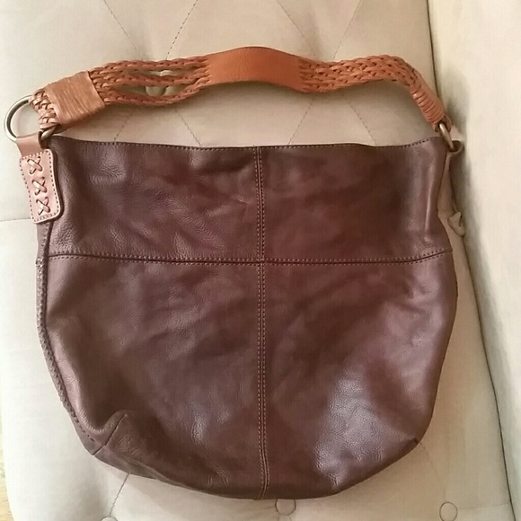 3ca8c74f56 Lucky Brand Handbags - Lucky Brand Hobo with Braided Leather Strap