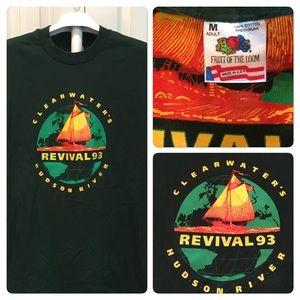 Vtg 93 Clearwater River Revival Festival Tee