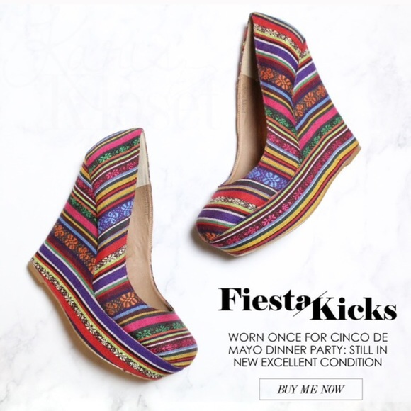 Steve Madden Shoes - NEW Fiesta Rainbow Wedges