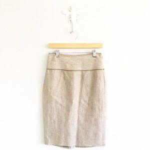 Badgley Mischka Dresses & Skirts - Badgley Mischka Woven Knee Length Pencil Skirt