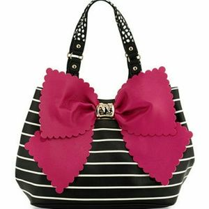NWT Betsey Johnson Big Bow Classic Tote