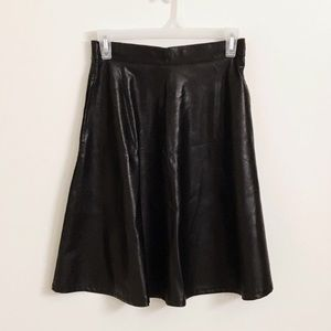 Forever 21 Dresses & Skirts - BLACK FAUX LEATHER A-LINE SKIRT