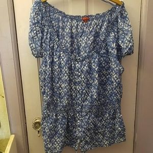 Women's plus summer blouse
