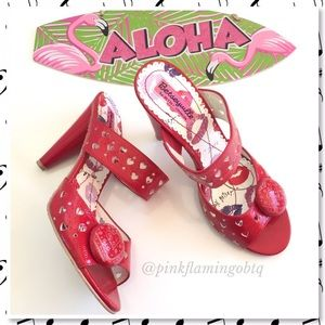 Betsey Johnson Shoes - Betsey Johnson Betseyville Red Heart Pacifica Heel