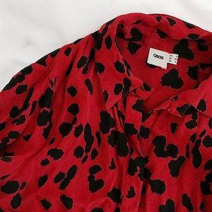 ASOS Tops - FINAL FLASH- ASOS Red Leopard Crepe Blouse