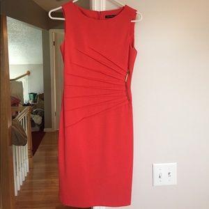 Red ivanka trump dress