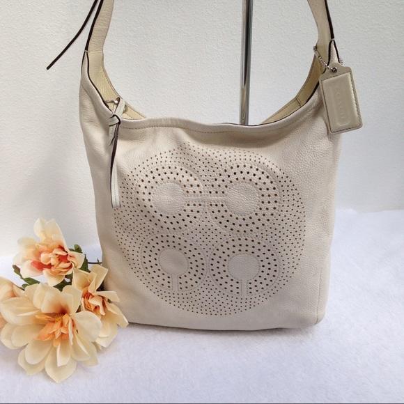 Coach Bags   Audrey Ivory Leather Sling Style 17023   Poshmark 78cf185809