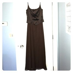 Chocolate brown evening dress size 6