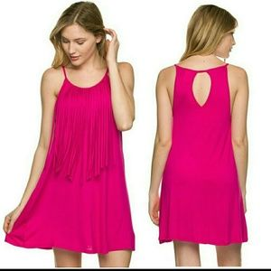 Twilight Gypsy Collective Dresses & Skirts - Fuchsia Fringe Dress