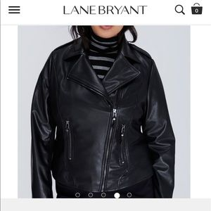 Lane Bryant Jackets & Blazers - NWT Lane Bryant Plus Size Leather Moto Jacket