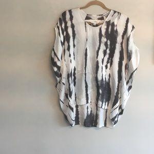 Cabi tie dye silk blouse