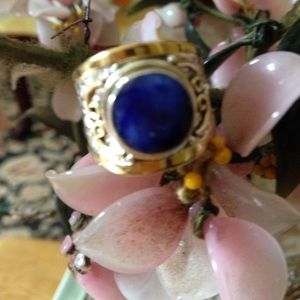 Vintage 925 natural sapphire ring