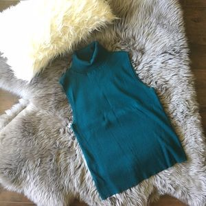 Grace Elements Tops - Blue Turtleneck Tank ♡