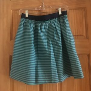 J. Crew striped skirt with pockets! Size 4