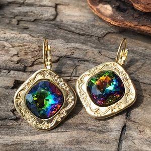 Jewelry - Handcrafted earrings with Swarovski crystal #209
