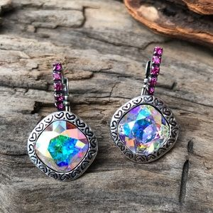 Jewelry - Handcrafted earrings with Swarovski crystal #211