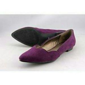 Ann Marino Shoes - Dark Purple Suede Ann Marino Flats