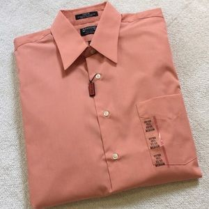 Arrow Other - Men's Orange Button Down Summer Dress Shirt
