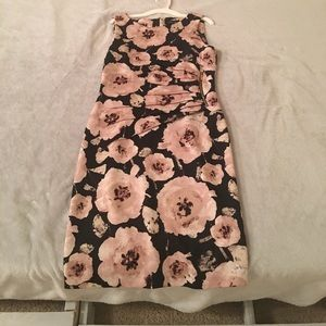 Ivanka Trump pink and navy floral dress.