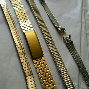 Speidel Accessories - 4 Vtg SS Watch Bands Hong Kong