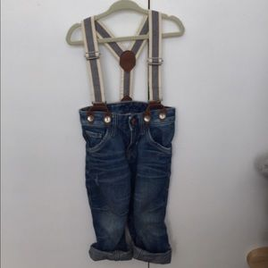 H&M Other - Denim jeans with suspenders