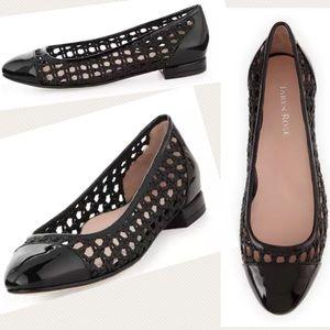 Taryn Rose Shoes - Taryn Rose Beatriz Woven Ballerina Flats Cap Toe